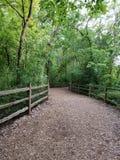 Swan Lake Poetry Walking Path Stock Images