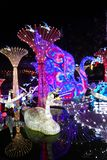 Swan Lantern in Zigong, China. Lanterns, also known as flower lanterns, is a popular traditional Chinese folk arts and crafts as New Year celebration. Zigong Stock Photos