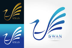 Swan logo Royalty Free Stock Image