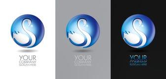 Swan logo design. Swan modern logo 3D vector design Stock Photography