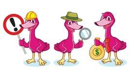 Swan Mascot Vector with money Stock Photos