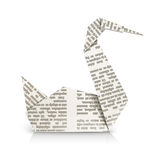 Swan origami toy Royalty Free Stock Image