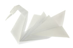 Swan of origami Stock Photography