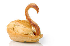 Swan pastry Royalty Free Stock Image