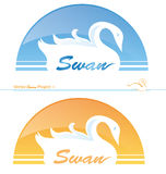 Swan project 1. Swan  2 variant  project 1 Stock Image