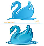 Swan project 3. Swan  3 variant  project 3 Royalty Free Stock Photo