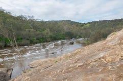 Swan River and Granite Rock Stock Images