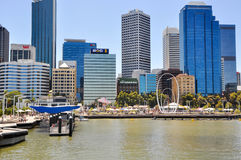 Swan River Inlet: Elizabeth Quay in Perth Stock Photo