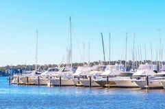 Swan River Moorings Royalty Free Stock Images