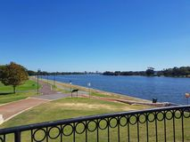 Swan River, Perth. This photo shows Swan River in Perth. The Swan River is a river in the south west of Western Australia. Its Aboriginal Noongar name is the Stock Images