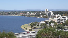 Swan River Perth, Western Australia. City view of Perth including The Swan River, Western Australia Royalty Free Stock Photos
