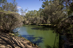 Swan River view in Maali Bridge Park, Swan Valley wine region, WA Stock Photo