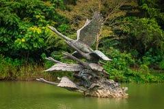 Swan See-Statue stockbild