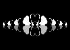 Swan silhouette with reflection  Stock Image