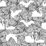 Swan silhouette seamless pattern Royalty Free Stock Photos