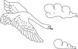 Swan sketch, vector Stock Images