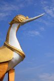 Swan statue in Thai style Stock Photos