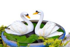 Swan statue Royalty Free Stock Photos