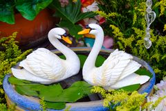 Swan statue Royalty Free Stock Photography