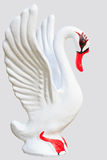 Swan stucco model on white background Royalty Free Stock Photos