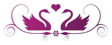 Swan swirly ornament Royalty Free Stock Image