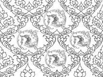 Swan thai design Royalty Free Stock Photo