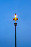 Swan Thai style street lamp pillar Stock Photography