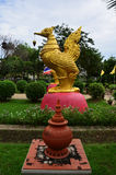 Swan thai style in Wat Pailom at Nonthaburi Royalty Free Stock Photos