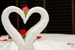Swan Towel Origami Stock Image
