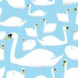 Swan on the watter pattern eps10. Seamless swan on the watter pattern eps10 vector illustration