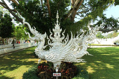 Swan White in Temple at chiang rai Royalty Free Stock Photo