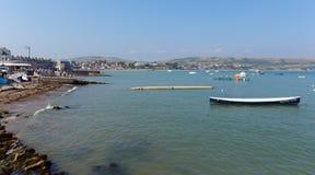 Swanage海湾多西特英国英国南海岸看法  库存图片