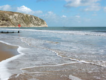 swanage пляжа Стоковое Изображение RF
