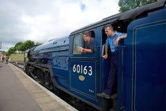 Swanage驻地铁路多西特英国 免版税库存照片