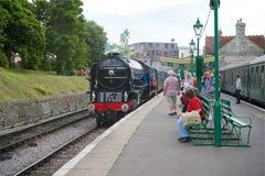 Swanage驻地铁路多西特英国 库存照片