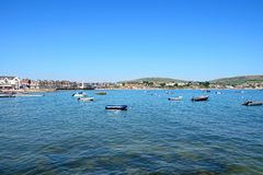 Swanage bay and coastline. Royalty Free Stock Image