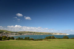 Swanage Bay seen from above Peveril Point Royalty Free Stock Photo