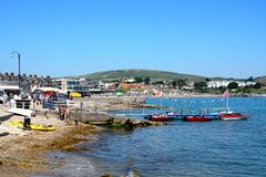 Swanage beach. Royalty Free Stock Images