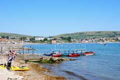Swanage beach and coastline. Royalty Free Stock Photography