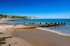 Swanage Beach Dorset England UK royalty free stock images