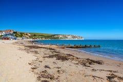 Swanage Beach Dorset England UK royalty free stock photography