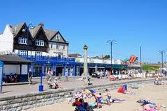 Swanage beach and promenade. Stock Photo