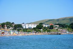 Swanage beach and town. Stock Images