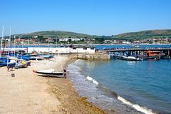 Swanage Beach. Royalty Free Stock Photography