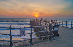 Swanage Dawn over the Water Royalty Free Stock Photo