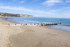 swanage dorset пляжа Стоковая Фотография