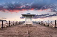 Swanage on the Dorset Coast. The pier at Swanage on the Dorset coast Stock Image