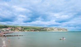 Swanage Dorset, playa BRITÁNICA Fotografía de archivo libre de regalías