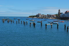Swanage old pier place Royalty Free Stock Images