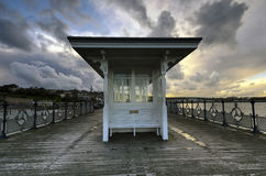 Swanage Pier. A winter's afternoon at Swanage Pier in Dorset Stock Photos